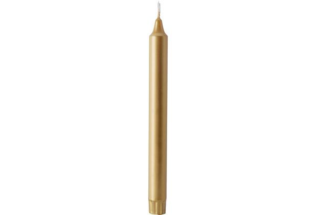 Duni Tischkerzen Stearin gold ø 22 mm, Höhe 250 mm 4 Stück