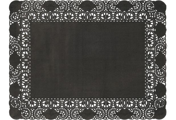 Duni Tortenspitzen Rechteckig schwarz 30 x 40 cm 250 Stück