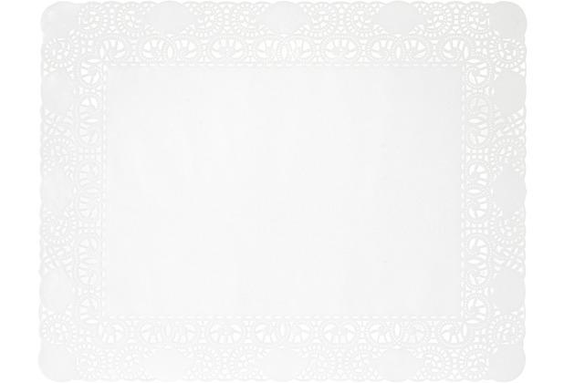 Duni Tortenspitzen Rechteckig weiß 20 x 30 cm 250 Stück