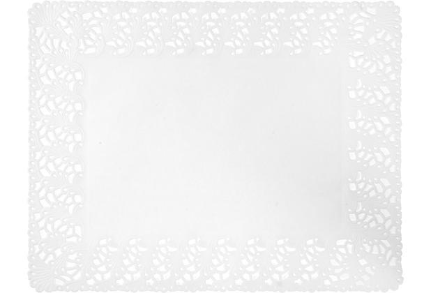 Duni Tortenspitzen Rechteckig weiß 35 x 45 cm 250 Stück