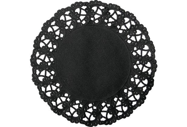 Duni Tortenspitzen schwarz ø 30cm 12 Stück