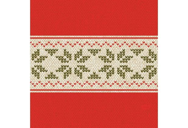 Duni Zelltuch-Servietten Urban Yule Red 33x33 cm 3lagig, 1/4 Falz 50 Stück
