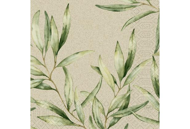 Duni Zelltuchservietten Foliage 33 x 33 cm 50 Stück