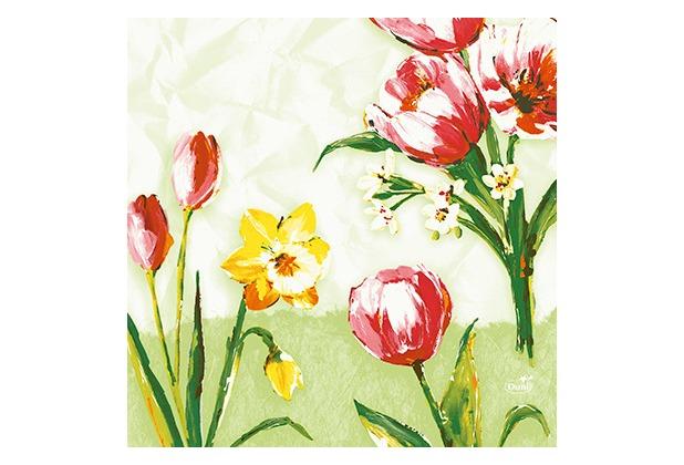 Duni Zelltuchservietten Red Tulip 33 x 33 cm 50 Stück