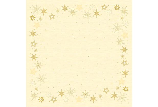 Duni Dunicel-Mitteldecken 84 x 84 cm Star Stories Cream, 5 Stück