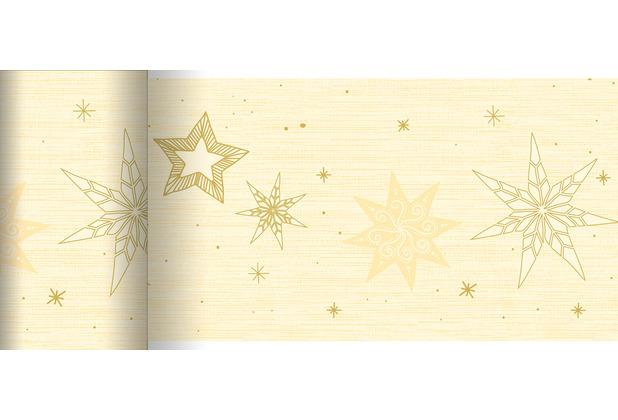 Duni Dunicel-Tischläufer 20 m x 15 cm Star Stories Cream