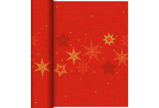 Duni Dunicel-Tischläufer Tête-à-Tête 24 m x 0,4 m (20 Abschnitte) Star Stories Red