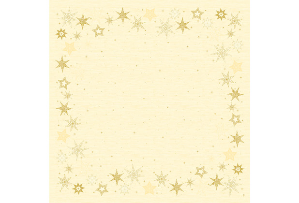 Duni Dunisilk-Mitteldecken 84 x 84 cm Star Stories Cream