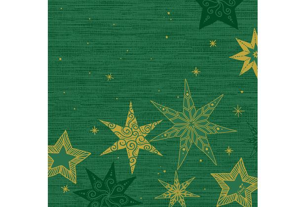 Duni Dunisoft-Servietten 40 x 40 cm Star Stories Green