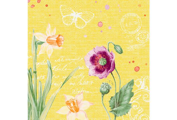 Duni Dunisoft-Servietten Spring Lilies 40 x 40 cm 60 Stück