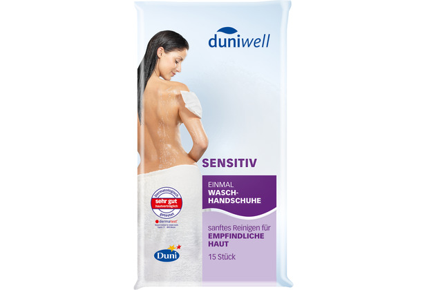 Duni Duniwell Einmal-Waschhandschuhe Sensitiv weiß 15 x 22 cm 15 St.