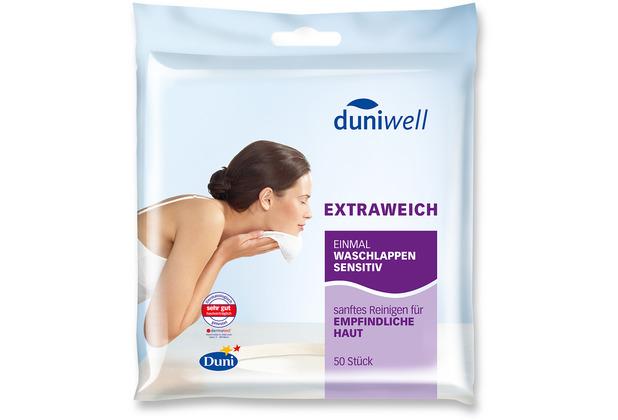 Duni Duniwell Einmal-Waschlappen Sensitiv, 50 Stück