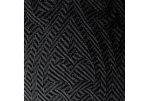 Duni Elegance-Servietten Lily schwarz, 40 x 40 cm, 40 Stück