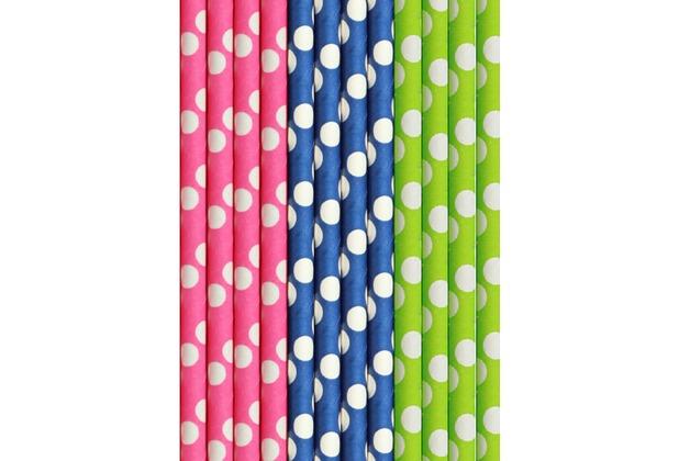 Duni FSC-Papier Bio Papier-Strohhalme Mix 15 cm, ø 8 mm 25 Stück