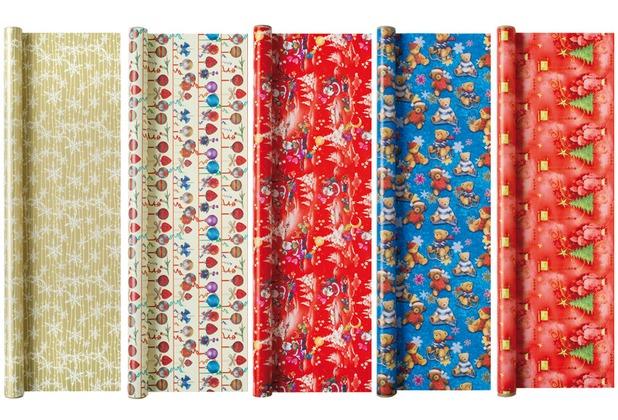 Duni Geschenkpapier auf Rolle, 5 Rollen, Christmas Fantasy 3 m x 70 cm