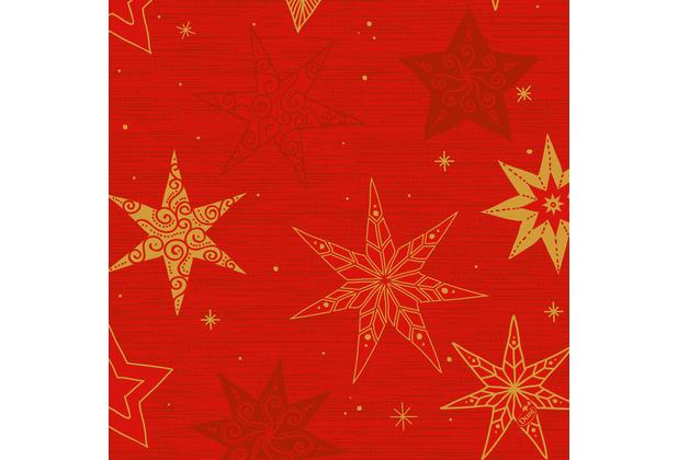 Duni Klassikservietten 40 x 40 cm Star Stories Red