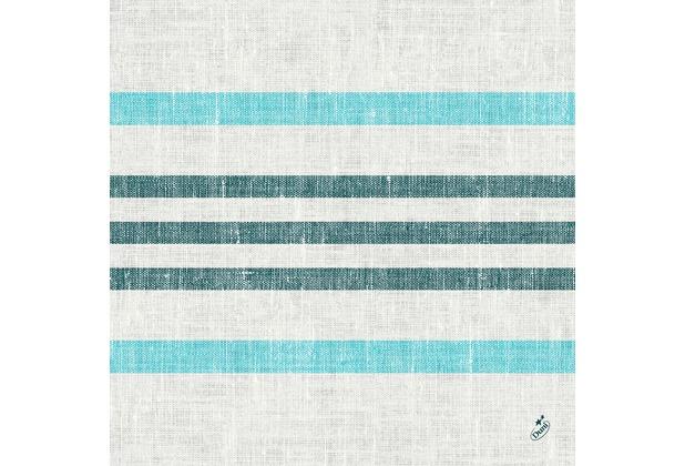 Duni Klassikservietten Raya blue 40 x 40 cm 1/4 Falz 50 Stück
