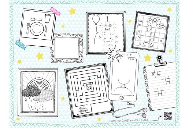 Duni Papier-Tischsets Keep drawing 30 x 40 cm 250 Stück