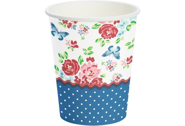 Duni Pappe Becher Sweet Roses 24 cl 10 Stück