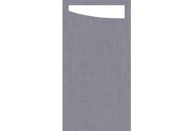 Duni Sacchetto Serviettentasche Granite Grey, 11,5 x 23 cm, 60 Stück
