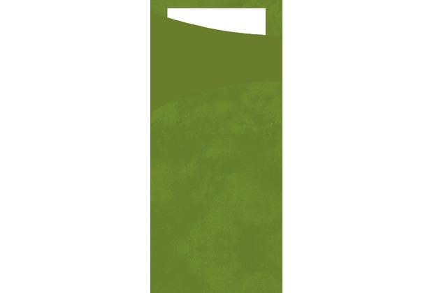 Duni Sacchetto Zelltuch leaf green/weiß 190 x 85 mm 100 Stück