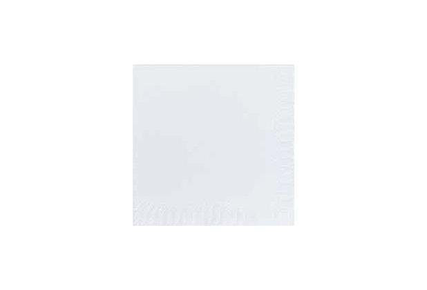 Duni Cocktail-Servietten 2lagig Zelltuch Uni weiß, 24 x 24 cm, 300 Stück