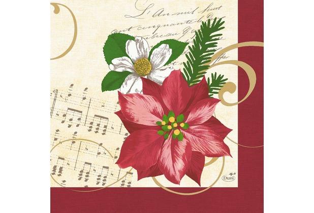 duni servietten 3 lagig christmas flower 33 x 33 cm 250 st ck weihnachtsstern. Black Bedroom Furniture Sets. Home Design Ideas