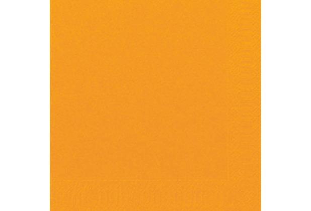 Duni Servietten 3lagig aus Zelltuch Uni orange, 33 x 33 cm, 1/4 Falz, 250 Stück