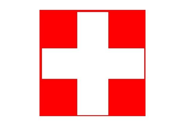 Duni Servietten, 3lagig Tissue Motiv Schweizer Kreuz, 33 x 33 cm, 20 Stück