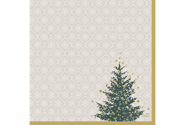 Duni Servietten Dunisoft® 40 x 40 cm Trees in Gold 12er Pack