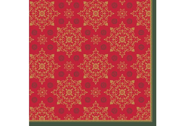 Duni Servietten Dunisoft® 40 x 40 cm X-Mas Deco Red 12er Pack