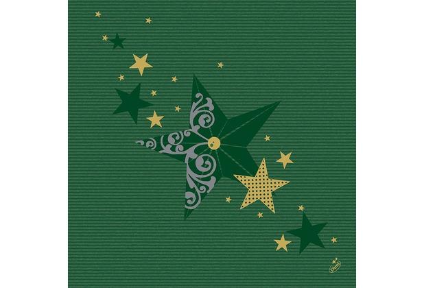 Duni Servietten Motiv Walk of Fame Green 40 x 40 cm 50 Stück