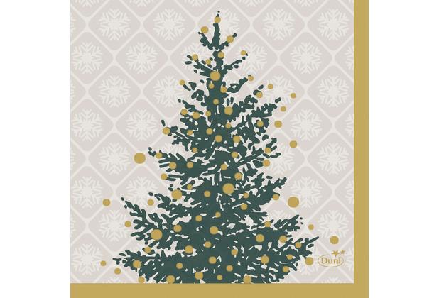 Duni Servietten Tissue 24 x 24 cm Trees in Gold 20er Pack