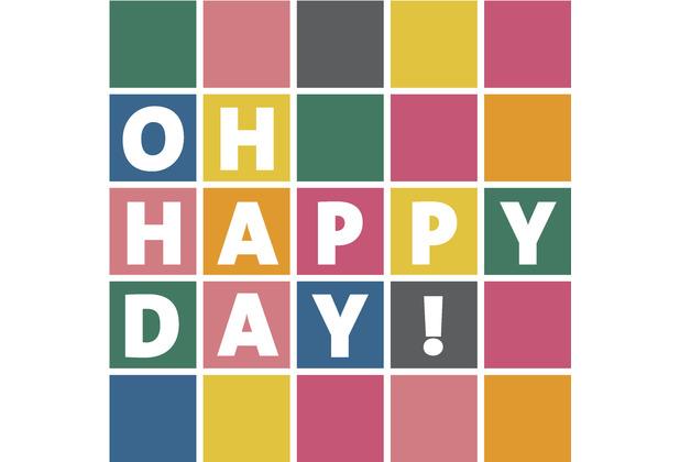 Duni Servietten Tissue Happy day 24 x 24 cm 20 Stück