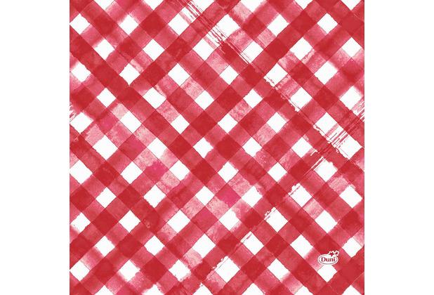 Duni Servietten Tissue Red Checks 33 x 33 cm 20 Stück