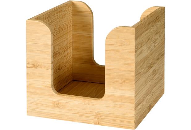 Duni Serviettenständer für ca. 50 St. Bambus 11 x 11 cm 1 Stück, 11,5 cm