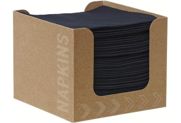 Duni Spenderboxen 1/4 Falz Dunisoft 20 x 20 cm Fingerfood Black, 50 Stück