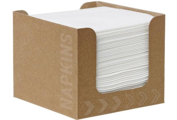 Duni Spenderboxen 1/4 Falz Dunisoft 20 x 20 cm Fingerfood White, 50 Stück