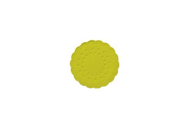Duni Untersetzer 8lagig Tissue Uni kiwi, ø 7,5 cm, 250 Stück