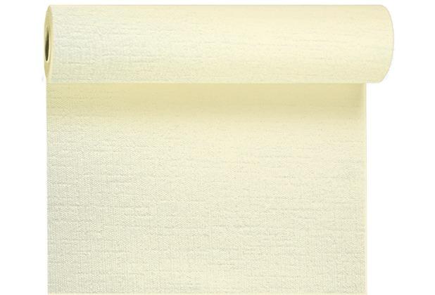 Duni Tête-à-Tête-Tischläufer aus Evolin alle 1,20 m lang perforiert, Uni cream, 41 x 2400 cm