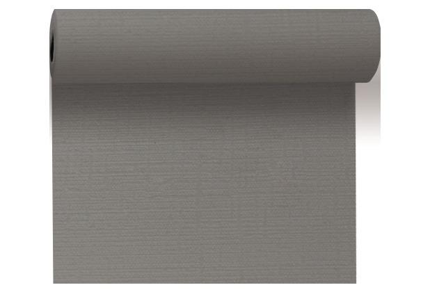 Duni Tête-à-Tête-Tischläufer aus Evolin alle 1,20 m lang perforiert, Uni granite grey, 41 x 2400 cm
