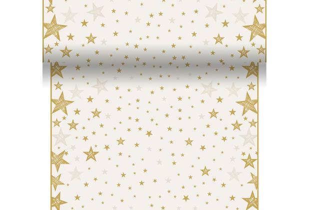 Duni Tischläufer 3 in 1 Dunicel® 0,4 x 4,8 m Shining Star Cream 1er Pack