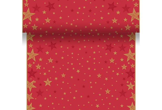 Duni Tischläufer 3 in 1 Dunicel® 0,4 x 4,8 m Shining Star Red 1er Pack