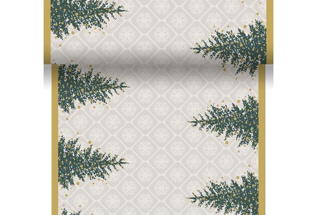 Duni Tischläufer 3 in 1 Dunicel® 0,4 x 4,8 m Trees in Gold 1er Pack