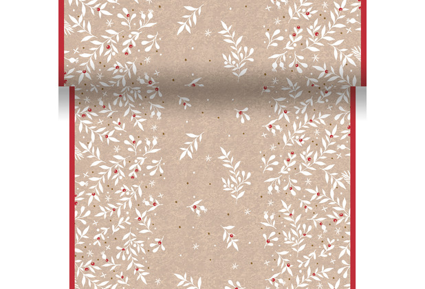 Duni Tischläufer 3 in 1 Dunicel® 0,4 x 4,8 m X-Mas Berries 1er Pack