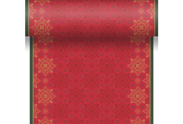 Duni Tischläufer 3 in 1 Dunicel® 0,4 x 4,8 m X-Mas Deco Red 1er Pack