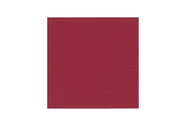 Duni Tissue Servietten bordeaux 33 x 33 cm 50 Stück