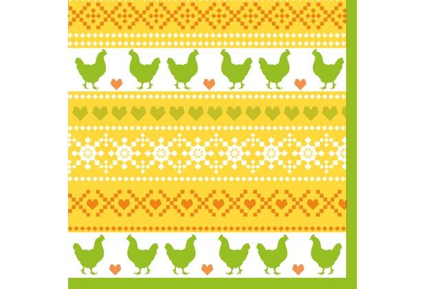 Duni Tissue Servietten Easter Knit 24 x 24 cm 20 Stück