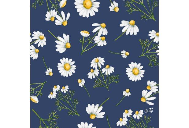 Duni Tissue Servietten Pretty Daisy Blue 33 x 33 cm 20 Stück