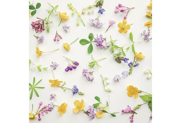 Duni Tissue Servietten Scattered flowers 25 x 25 cm 20 Stück
